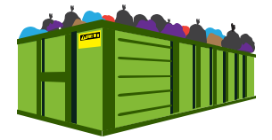 Fill dumpster